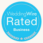 WeddingWire Rated Business
